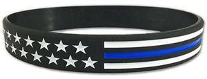 Wristband - Stars & Stripes Thin Blue Line